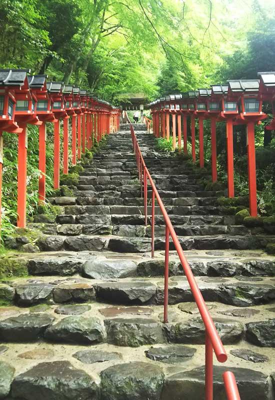 貴船神社 石階段